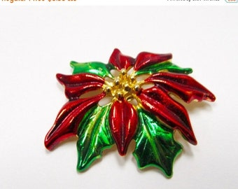On Sale GERRY'S Enameled Poinsettia Pin Item K # 341