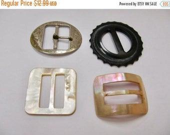 On Sale 4 Vintage Belt Buckles Item K # 1613