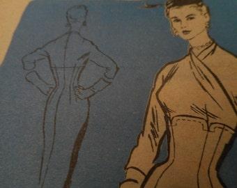 SALE Vintage 1950's Mail Order M272 Prominent Designer Alan Phillips Dress Sewing Pattern Size 18 Bust 36