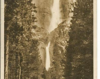 Vintage Photo Postcard Yosemite Falls