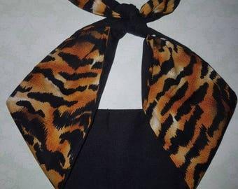 tiger animal print rockabilly  bandana,  rockabilly pin up psychobilly  hairband headband