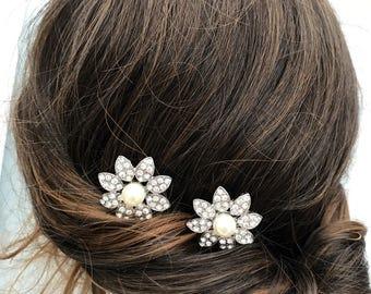 Flower hair comb - bridal hair comb- wedding hair accessory -hair comb x2 bridal hair - bridesmaid