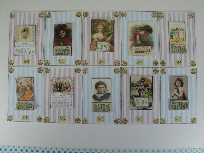 Dollhouse Photography Calendar : Sale gaël miniature victorian calendar scale dollhouse