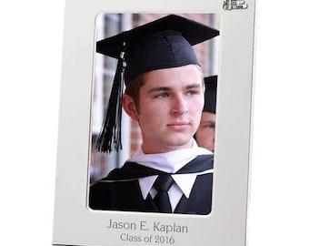Engraved Silver Graduation Frame
