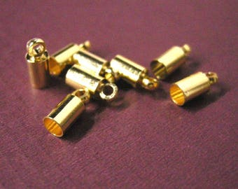 30pc Gold finish Brass Cord Ends-5373
