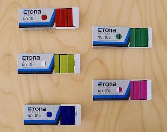 Box of 1000 colored staples n.1 ETONA