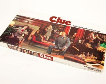 Vintage 1972 CLUE Game - Parker Brothers - Mint Condition - looks like it was never played
