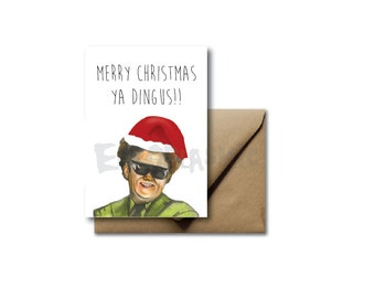 Christmas Holiday Card Greeting Card Brule's Rules Dr. Steve Brule Tim and Eric Lol Hand Drawn Funny Gift