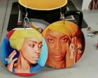 Large erykah badu earrings