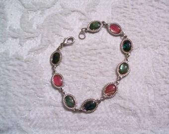vintage enamel bracelet, retro, enamel jewelry