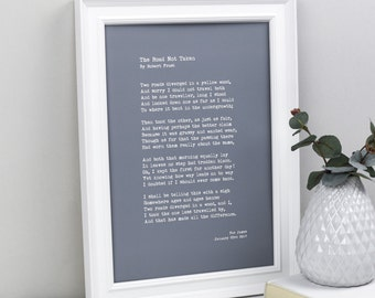 My Words- Custom Quote Print- Custom Poster- Typewriter Quote- Personalised Print- Custom Poem Print- Personalized Prints- Personalised Poem