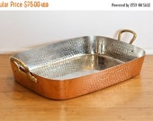 Black Friday SALE... Vintage copper pan…copper roasting pan…copper roaster…copper baker…in original box.