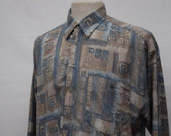 90s Patterned Festival Shirt