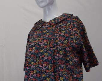 Small Floral Print Women's Top