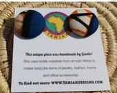 BLACK FRIDAY OFFER African print Button earrings, African earrings, Fabric button earrings, Button earrings. Fabric earrings, African wax pr