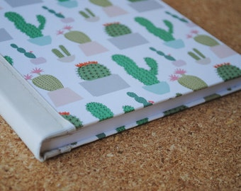 Cactus Notebook, Ribbon Notebook, Lined Journal Bound Notebook