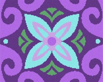 Needlepoint Kit or Canvas: Motif Square 2