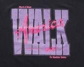 Vintage 1990s March of Dimes 1992 Walk Black T-Shirt L Screen Stars Best Polycotton Blend