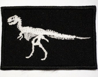 Dinosaur variation 4 - embroidered patch, BUY3 GET4, 3,6 X 2,4 INCH