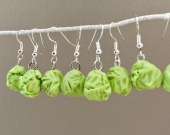 Brussel Sprout  Earrings