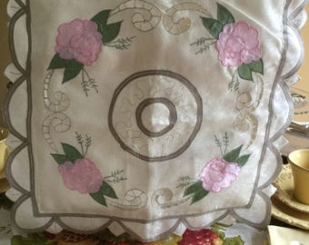 Decorative Silky Floral Embroidered Zippered  Pillow/Case Cover Bedding