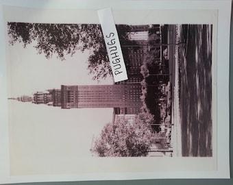 9 x 11 black and white photo Terminal Tower Cleveland Ohio