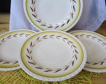 Antique Metlox Poppytrail  Arcadia Dinner plates  Rare NEW old stock 4 dinner plates included, 4 sets of 4available