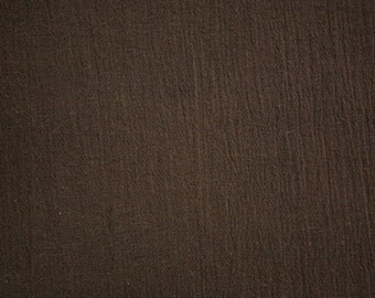 "Dark Brown Cotton Gauze Fabric 52"" Wide Per Yard"