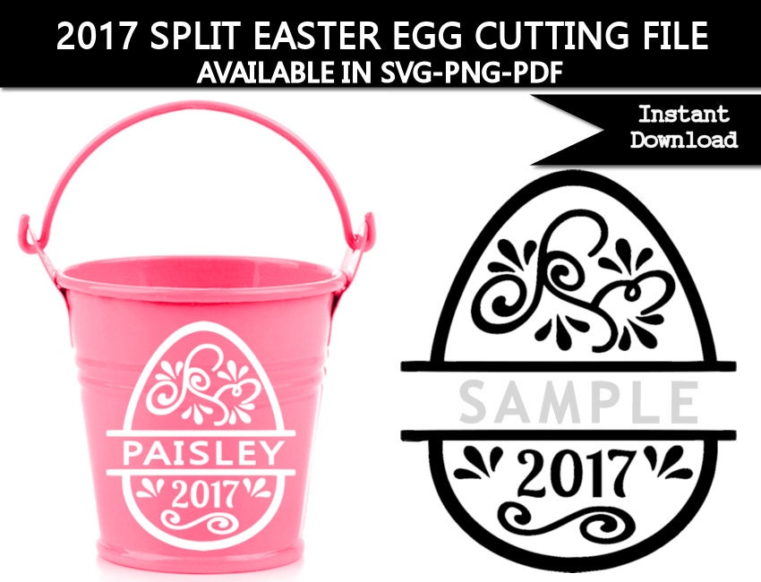 2017 split easter egg svg cutting file for silhouette