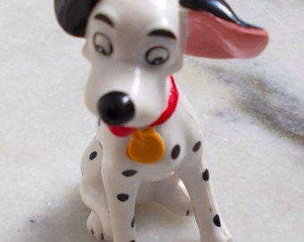 101 Dalmatians Miniature Toy. Vintage Disney Figurine. Puppy Dog Miniature. Dog Lover Gift. 90s Rubber Toys. Disney Collectibles.
