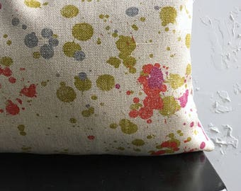 Paint Splatter Pillow Cover, 12x18, 12x20 Lumbar Pillow, 80s Abstract Art Pillow Cover, Decorative Pillows