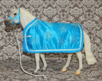 SALE- LAST ONE! Blanket & Halter Set for Traditional Breyer Horse