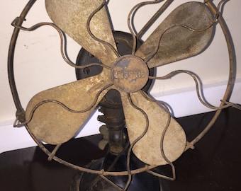 Retro Gilbert Fan Vintage Industrial Oscillating Metal Fan