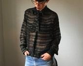 Vintage Sheer Silk Parisian Blouse