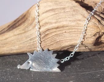 Handcut Headgehog Pendant Necklace