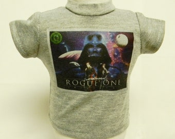 Star Wars Rogue One (4) Theme Silver Glitter Transfer T-Shirt For 16 or 18 Inch Dolls Like The American Girl Or Bitty Baby