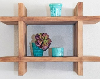 Open Wood Shelf