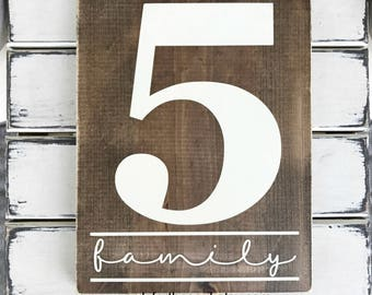 Number Sign - Family Number - Inspirational Decor -  Wooden Sign - Rustic Wood Signs - Rustic Wall Art - Gallery Wall Decor - Gallery Wall