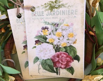 Flower Bouquet Gift Tag