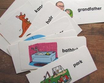 Flashcards Vintage Sight Words Easy Vowel Words Frank Schaffer