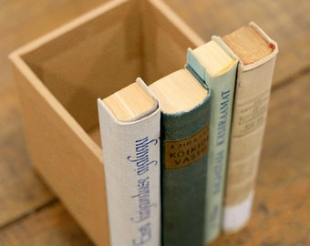 """Secret Compartment Victoria """"Gold Mint"""", Recycled Book Spine Box"""