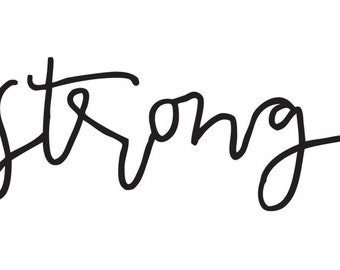 strong  // Temporary Tattoo