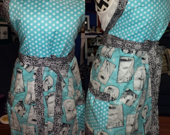 Super Cute - Elvis Presley Full Size Apron - Perfect Gift Idea for the Elvis Lover in your life!  Plus Sizes