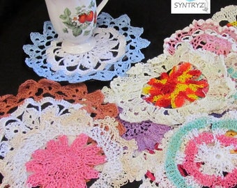 Lace Doilies Multi Colors 5 to 9 Inches 6 Pack Assortment