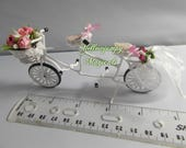 1/12th miniature Tandem suitable for a wedding cake topper or dollhouse  One 1/24th reserved for Debbie Please do not buy.