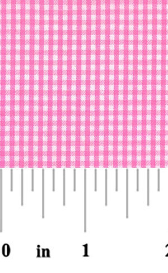 High Quality Fabric Finders Hot Pink Gingham