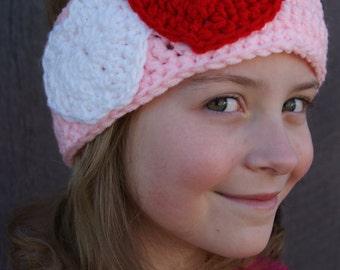 Heart Headband in Pink