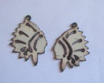 Indian White metal earring (Set)  #EWKS-13