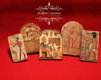 Dollhouse miniature Egyptian tablet