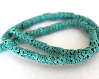 Full Strand Turquoise Wave Heishi Beads